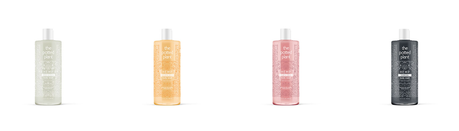 The Potted Plant Hemp Body Washes and Lotion