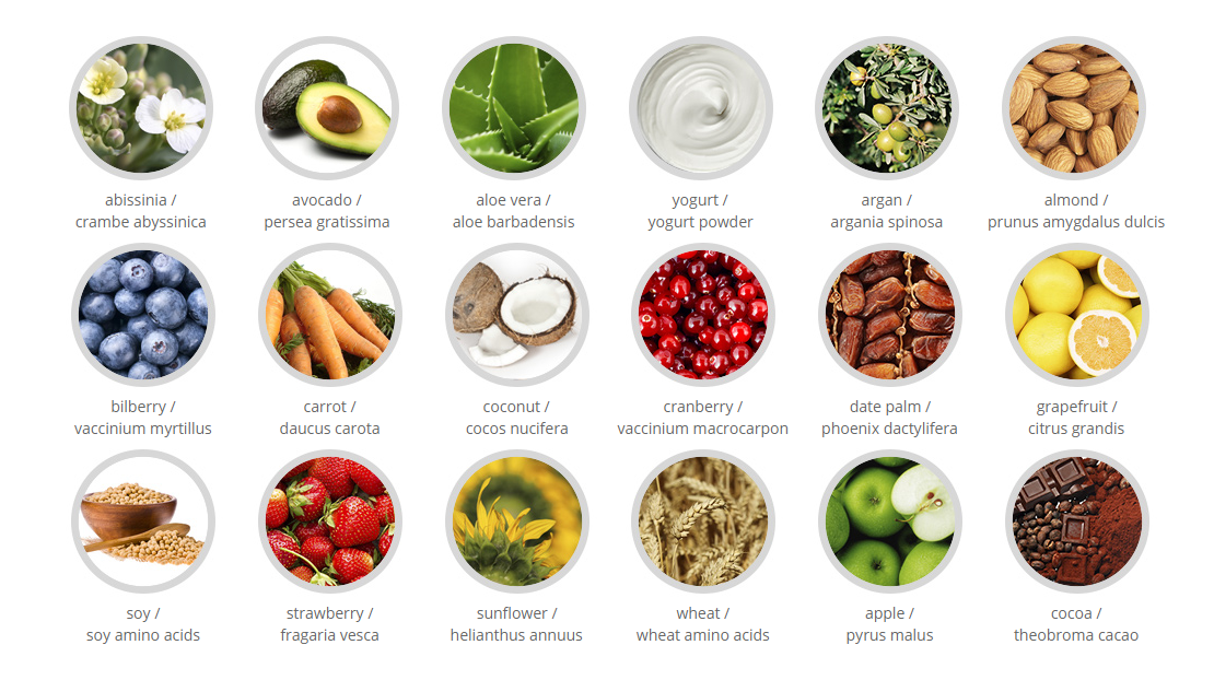 natural ingredients and proteins in milk_shake hair care and hair color products